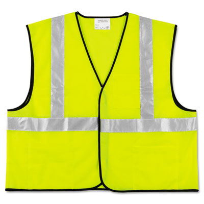 MCR Safety Class 2 Safety Vest, Fluorescent Lime