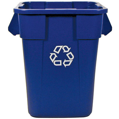 Rubbermaid Commercial Brute Recycling Container, Square,