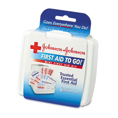 Johnson & Johnson Red Cross Mini First Aid To Go Kit, 12