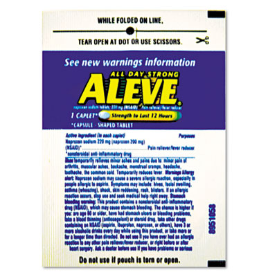 Aleve Pain Reliever Tablets Refill Packs, Two-Pill Packets