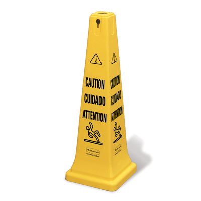Rubbermaid Commercial Multilingual Safety Cone,