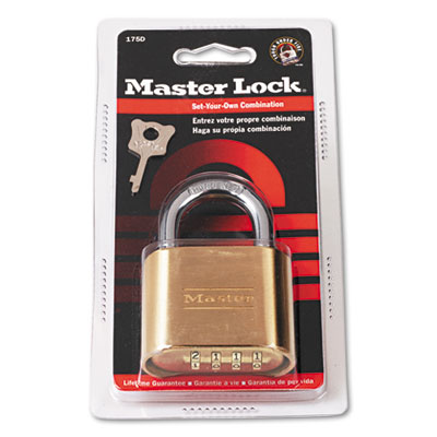 "Master Lock Resettable Combination Padlock, 2"" wide,"