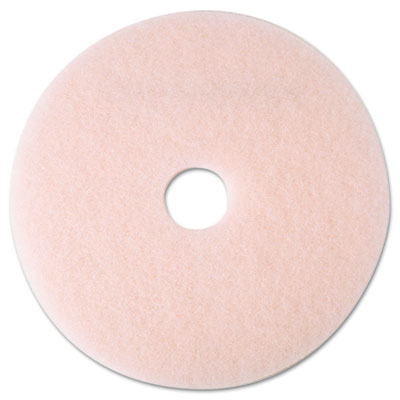 "3M Eraser Burnish Floor Pad 3600, 19"", Pink"