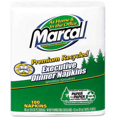Marcal Executive Dinner Napkins, Twp-Ply, 17 x 15,