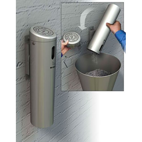 Wall-Mounted Ashtray Locking with Swivel