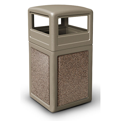 38-Gallon StoneTec Panel with Dome Lid