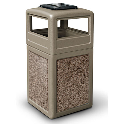 38-Gallon StoneTec Panel with Ashtray Dome Lid