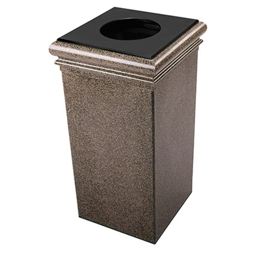 30-Gallon Stone Tec Waste Container with Lid & Liner