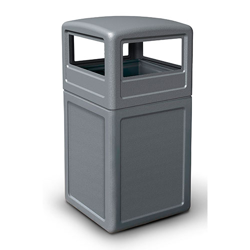 38-Gallon Square Waste container with Dome Lid