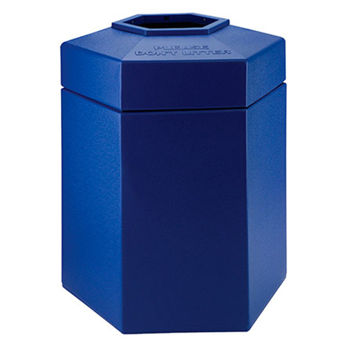 45-Gallon Hex Waste Container