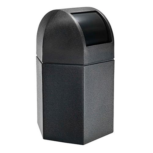 45-Gallon Hex Waste Container with Dome Lid