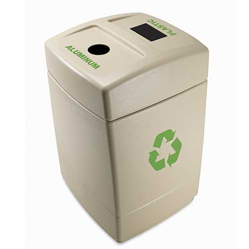 Recycle55 Plastic/Aluminum Recycling Waste Container