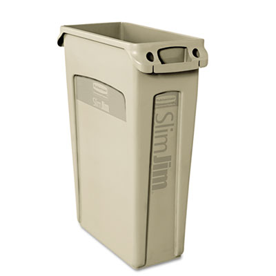 Rubbermaid Commercial Slim Jim Receptacle, Venting