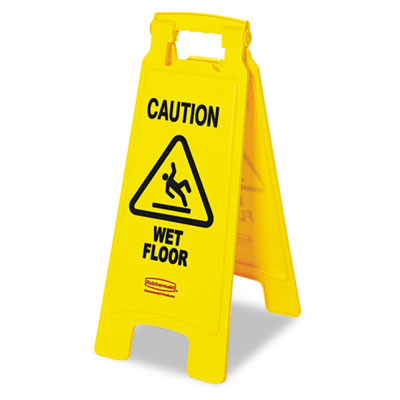 Rubbermaid Commercial ?Caution Wet Floor? Floor