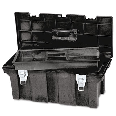 "Rubbermaid Commercial Industrial 26"" Tool Box, Black"