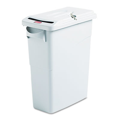 Rubbermaid Commercial Slim Jim Confidential Receptacle
