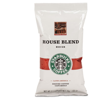 Starbucks Coffee, Regular House Blend, 2 1/2 oz Packet,