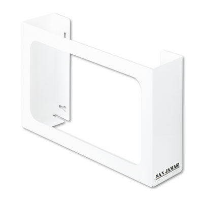 San Jamar White Enamel Disposable Glove Dispenser,