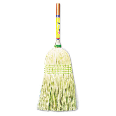 "UNISAN Parlor Broom, Corn Fiber Bristles, 42"" Wood"