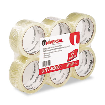 "Universal Box Sealing Tape, 2"" x 55 yards, 3"" Core,"