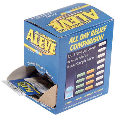 Aleve Naproxen Pain Reliever Tablets, Individually Wrapped