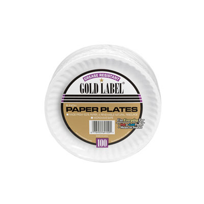 AJM Packaging Corporation Coated Paper Plates, 6