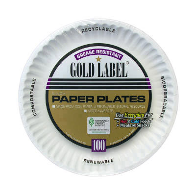 AJM Packaging Corporation Coated Paper Plates, 9