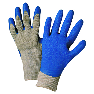 Anchor Brand Latex Coated Gloves 6030, Gray/Blue, Medium