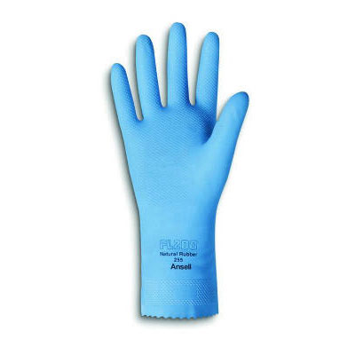 AnsellPro Fishscale-Grip Latex Gloves, Sky Blue, Small