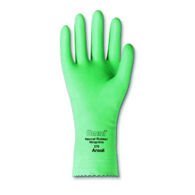 AnsellPro Omni Neoprene-Latex Gloves, Light Green, Size 9