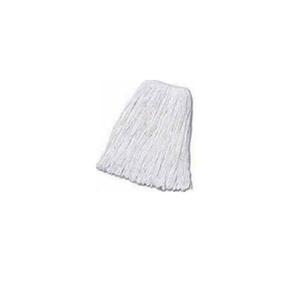 Boardwalk Banded Cotton Mop Heads, Cut-End, 20-oz, White