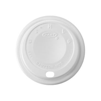 Dart Cappuccino Dome Sipper Lids, Fits 8-10oz Cups, White