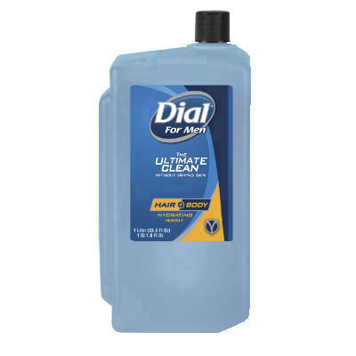 Dial For Men Hair & Body Hydrating Wash, 1 Liter