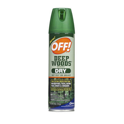 OFF! OFF Deep Woods Dry Insect Repellent, 4oz,