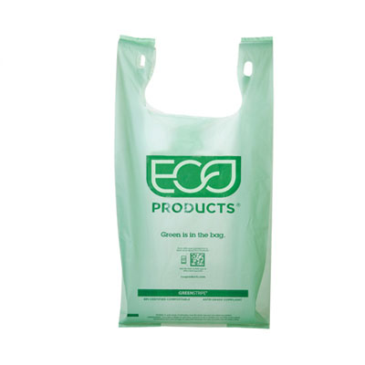 Eco-Products Compostable Plastic Grocery Bags, 0.8mil,