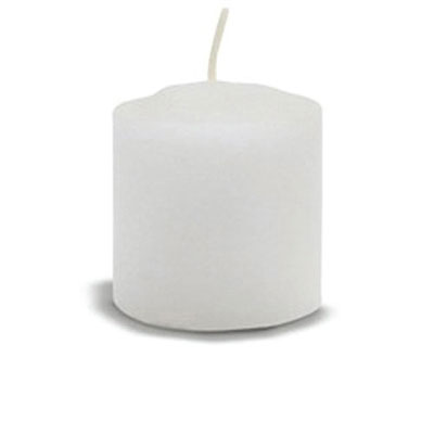 Fancy Heat Votive Candle, White, 15 Hour Burn, 1-13/16
