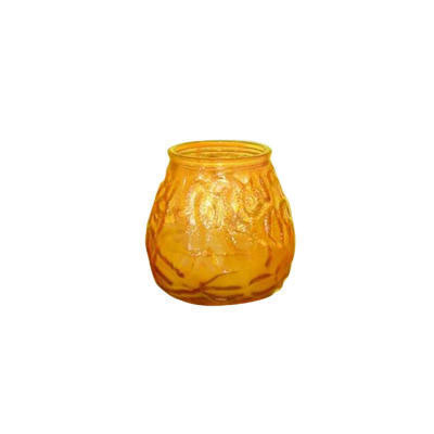 Fancy Heat Victorian Filled Candle, Amber, 60 Hour Burn,