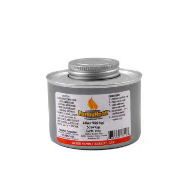 Fancy Heat Chafing Fuel Can, Twist Cap Wick, 4 Hour Burn,