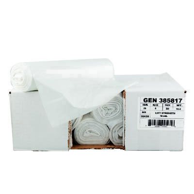 GEN High-Density Can Liner, 38 x 58, 60-Gallon, 16 Micron
