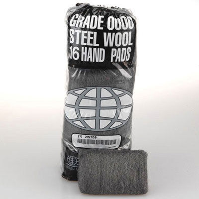 GMT Industrial-Quality Steel Wool Hand Pad, #2 Medium