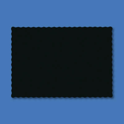 Hoffmaster Solid Color Placemats, 9 3/4 x 14, Black