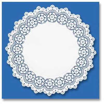 "Hoffmaster Kenmore Lace Doilies, Round, 16"", White"