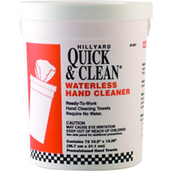 Hillyard Wipe Q&C Waterless Hand Cleaner 72Ct