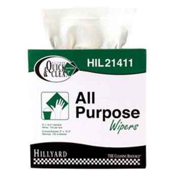 Hillyard Wiper All Purpose White 100Bx 4/CS