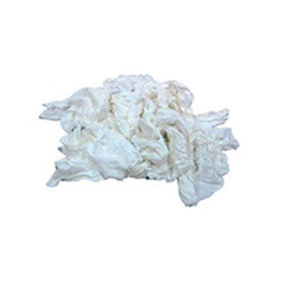 Hospital Specialty Co. Bleached White T-Shirt Rags,