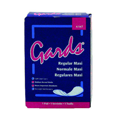 Hospital Specialty Co. Gards Maxi Pads, Size 8