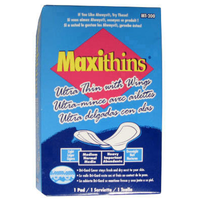 Hospital Specialty Co. Maxithins Ultra-Thin Pads,