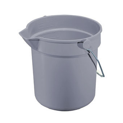 Impact Deluxe Heavy-Duty Bucket, Grey, Polypropylene,