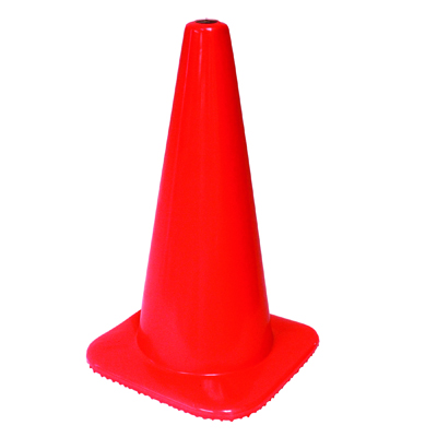 "Impact Safety Cone, Unmarked, Plastic, 18"" Orange"