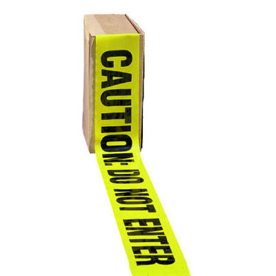 "Impact Barrier Tape, ""Caution Do Not Enter"" Text, 3"" x 1000"